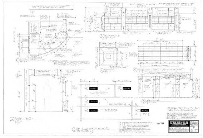 241 Battlestar Galactica Cylon Key Vault Blueprints Lot 241