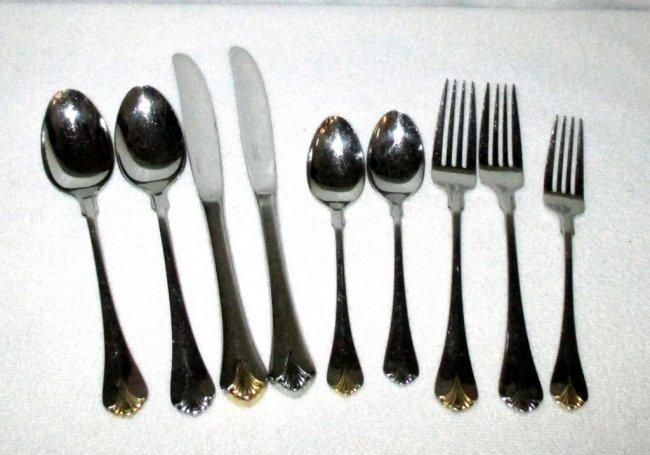 Yamazaki stainless flatware lot 152 - Yamazaki stainless steel flatware ...