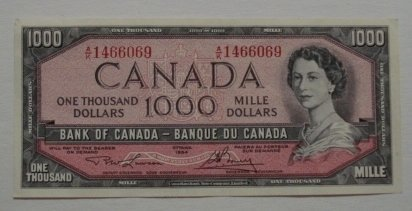 Related Pictures 1000 dollar bill canada 1954