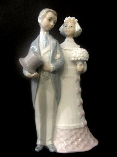 Artistic wedding groom under skirts