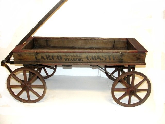 Antique Larco Coaster Wooden Wagon : Lot 1060J