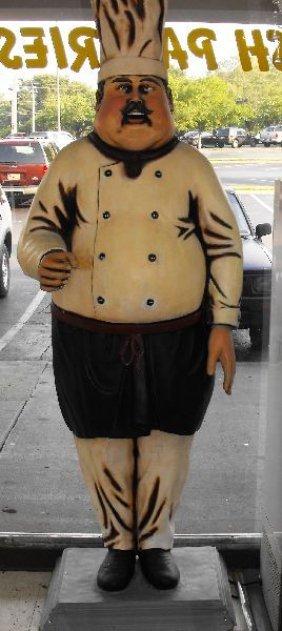 7 1 2 Standing Chef Baker Resin Statue Holding Ut Lot 13