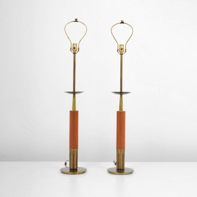 pair of stiffel lamps tommi parzinger lot 9. Black Bedroom Furniture Sets. Home Design Ideas