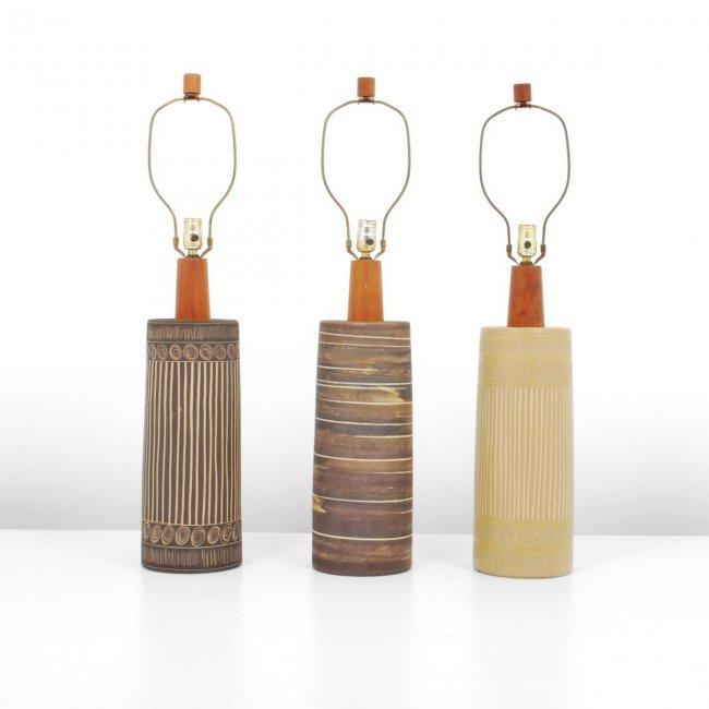 gordon jane martz lamps set of 3 lot 309. Black Bedroom Furniture Sets. Home Design Ideas