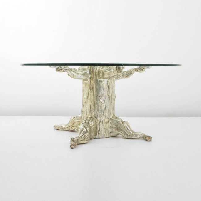 David barrett tree trunk dining table lot 292 for Tree trunk dining table