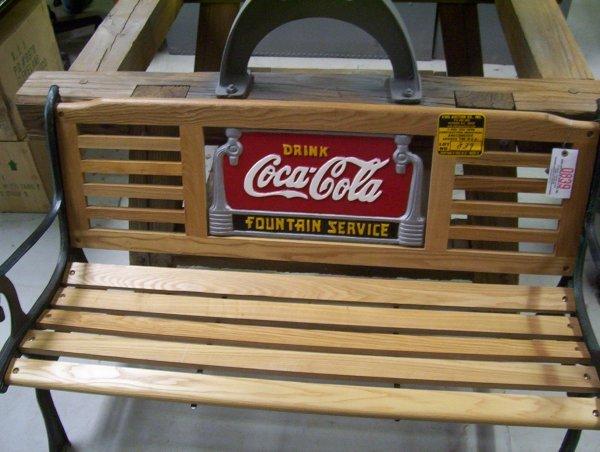 839 Coca Cola Park Bench 49 X 30 Lot 839