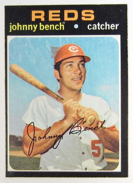 2 1971 Topps Johnny Bench Baseball Card Lot 2