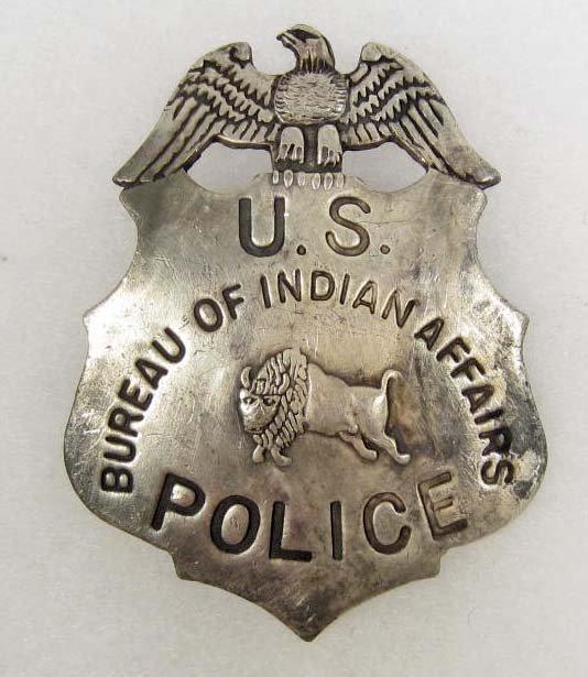 5 bureau of indian affairs u s police badge lot 5. Black Bedroom Furniture Sets. Home Design Ideas