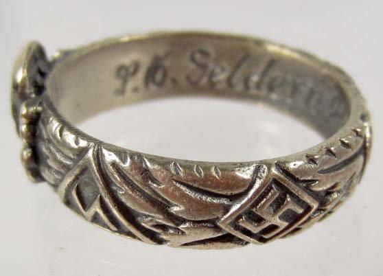 Wedding Ring Inscriptions 143 GERMAN NAZI WEDDING BAND RING INSCRIPTION ON INN Lot 143