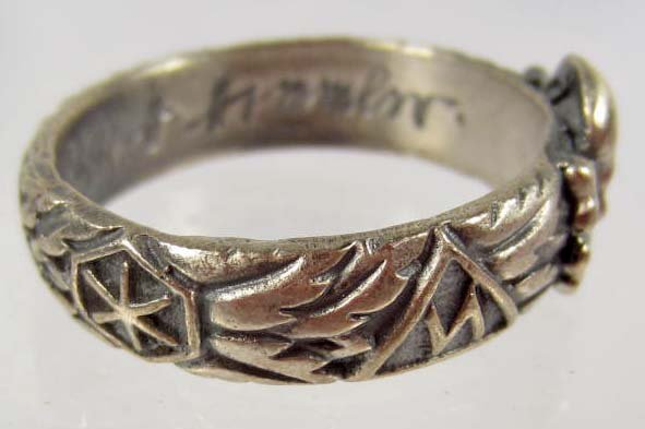 143 GERMAN NAZI WEDDING BAND RING