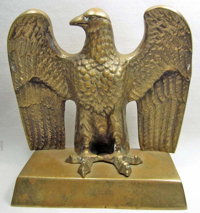 BRASS GERMAN NAZI EAGLE TABLE STATUE : Lot 82