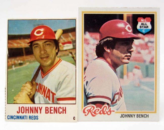 Lot Of 2 1978 Johnny Bench Baseball Cards Topps Lot 329