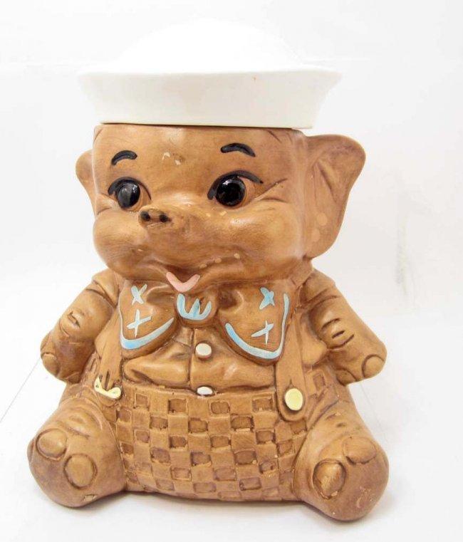 Cookie jar sailor elephant vintage twin winton lot 7 - Vintage elephant cookie jar ...