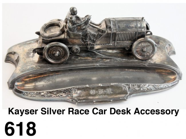 kayser silver race car desk accessory lot 618. Black Bedroom Furniture Sets. Home Design Ideas