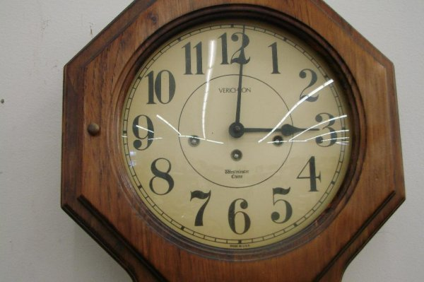 539 Vintage Verichron Westminster Chime Regulator Wall