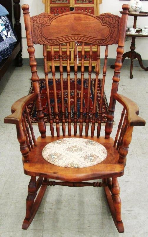 antique spindle rocking chair