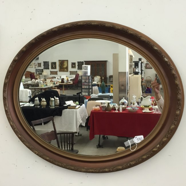 Oval Foyer Mirror : Th century oval foyer mirror quot auction lot
