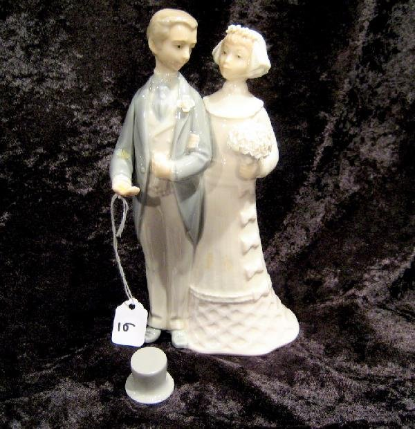 Lladro Wedding Cake Topper W Bride Amp Groom Lot 11006