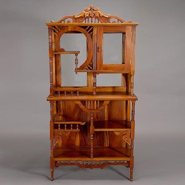 Vaisselier Etroit: 532: Victorian Mahogany Curio Cabinet : Lot 532