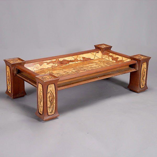 452 Art Nouveau Style Coffee Table Lot 452