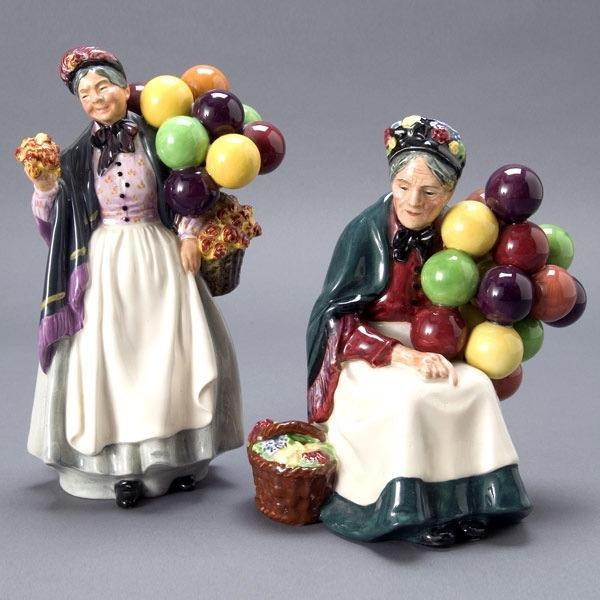 466: Two Royal Doulton Balloon Lady Figures : Lot 466
