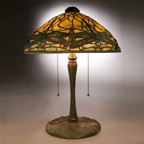 158 tiffany studios dragonfly table lamp lot 158 for 1908 studios tiffany blue dragonfly floor lamp