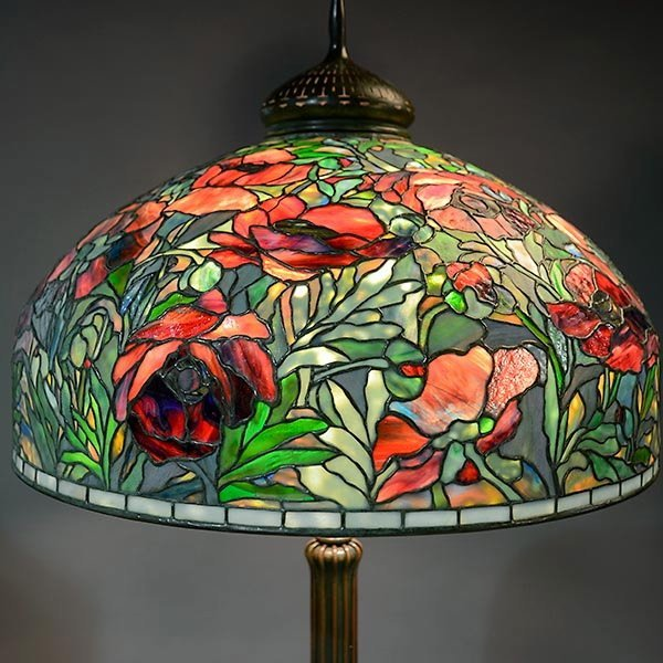 Tiffany Studios Oriental Poppy Floor Lamp : Lot 2050