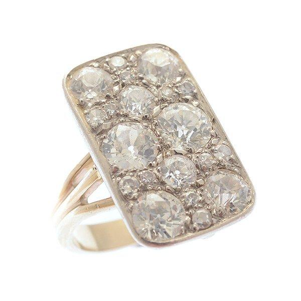 platinum 18k white gold ring lot 109