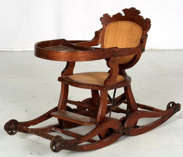 Antique High Chair Stroller Antique Furniture - Antique High Chair Stroller Combo