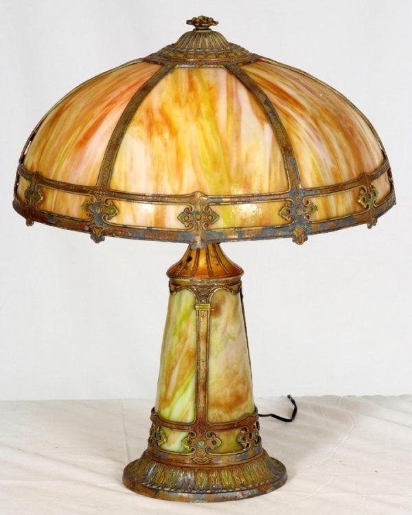 384 antique victorian slag glass table lamp all origi. Black Bedroom Furniture Sets. Home Design Ideas