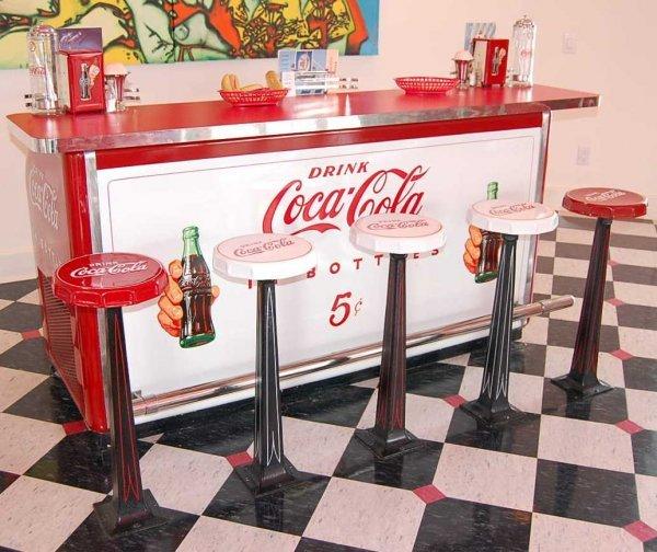 98 Antique Coca Cola Bar Amp Stools Lot 98
