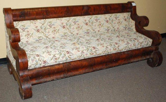 066 American Empire Mahogany Sofa Lot 66