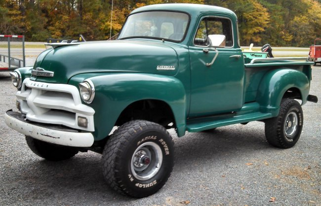1954 chevy four wheel drive truck lot 49. Black Bedroom Furniture Sets. Home Design Ideas