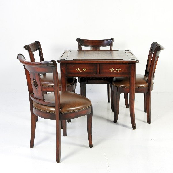 Wooden Card Table Sets ~ Wood card table and chairs