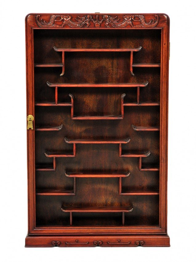 359 a chinese rosewood curio wall shelf lot 359. Black Bedroom Furniture Sets. Home Design Ideas