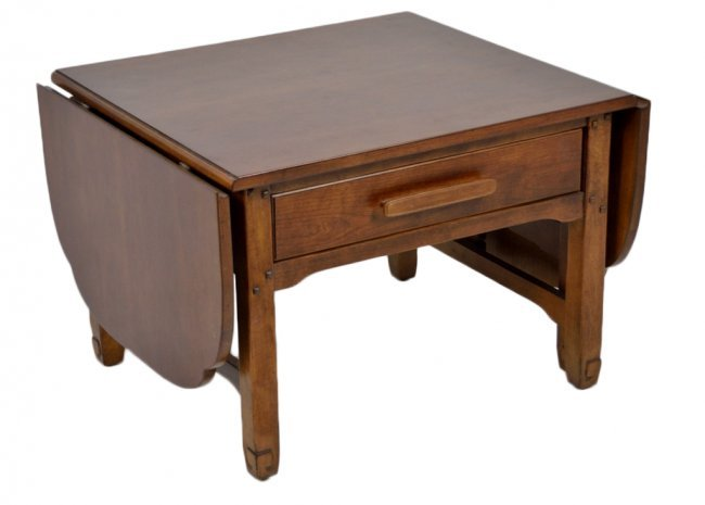 287 a small cherry drop leaf coffee table lot 287 With small cherry coffee table