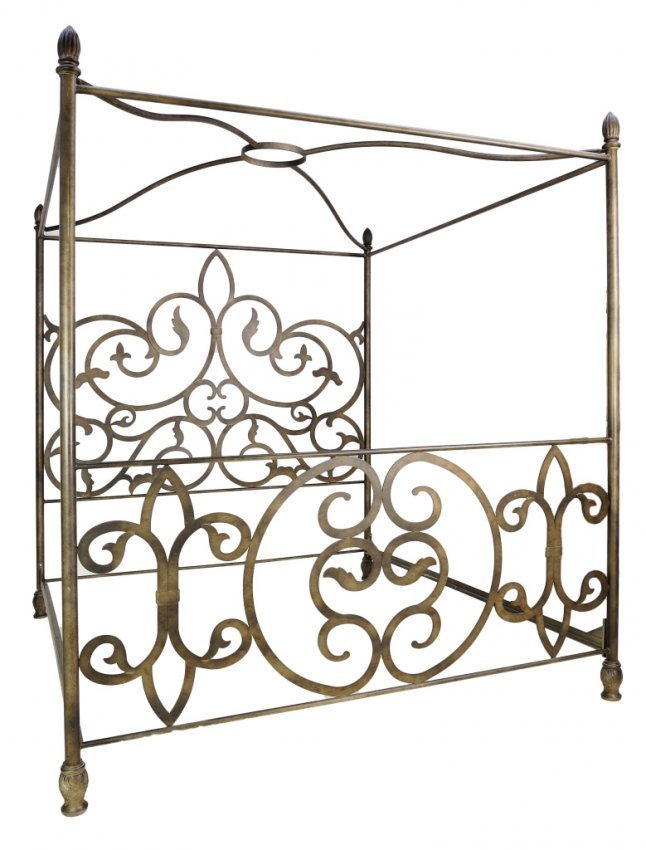 182 king size iron canopy bed
