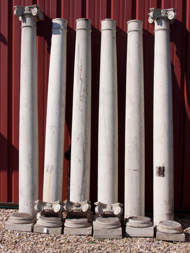 454 Wooden Architectural Porch Columns Set Of Six Lot 454