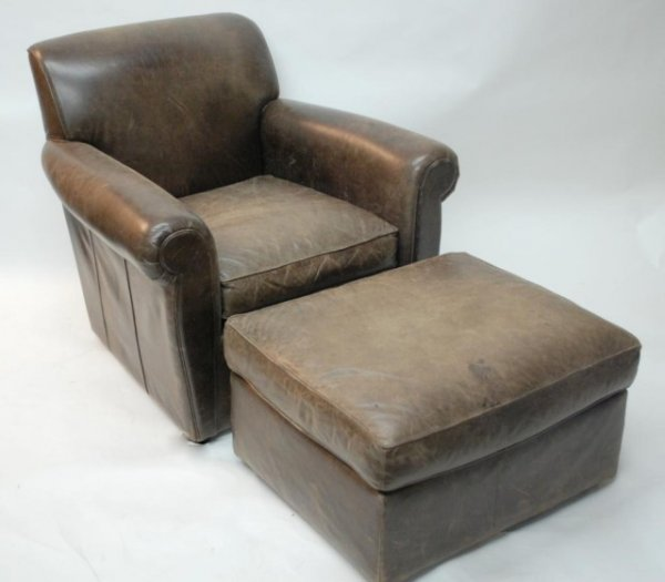 Showroom Metallic Gold Porters Chair Leather Chesterfield