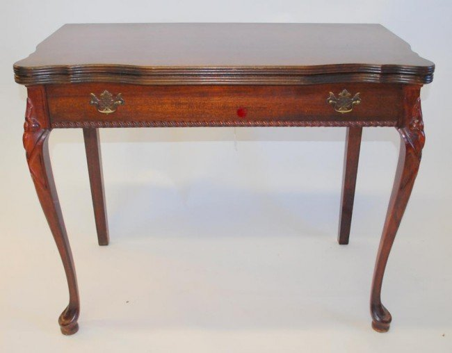 168 Mahogany Expanding Console Dining Table Lot 168