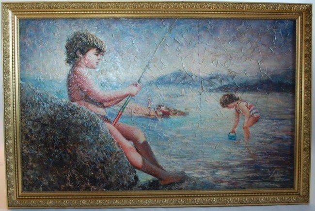 Juan Lopetegui Original Oil Painting