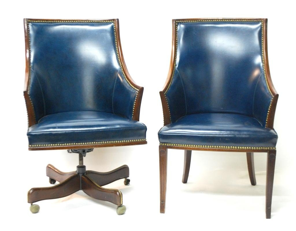 Blue leather chair blue leather office chairs