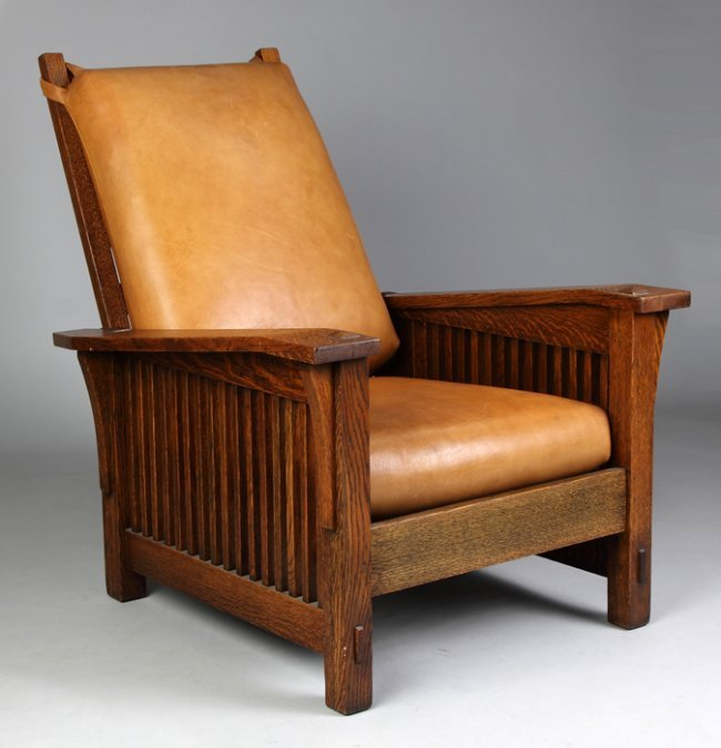 Arm spindle morris chair lot 796 click for details stickley furniture