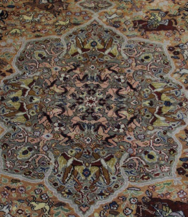 KARASTAN PERSIAN HUNTING SCENE LOOMED RUG : Lot 49609