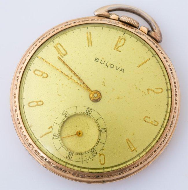 mens bulova gold filled pocket