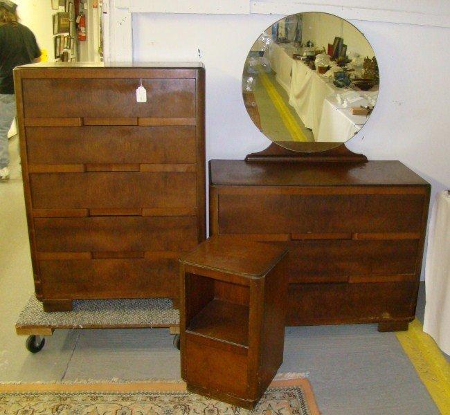 4 Art Deco Bedroom Set Lot 4