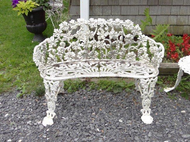 44 Cast Iron Garden Bench Lot 44