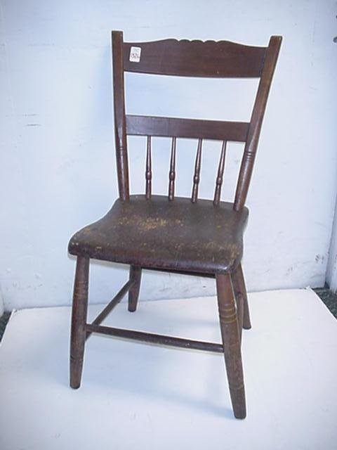 1326 vintage mid 1800 39 s wooden kitchen chair lot 1326