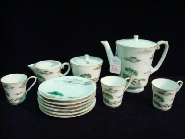 Fukagawa Arita Hand Painted Tea Set