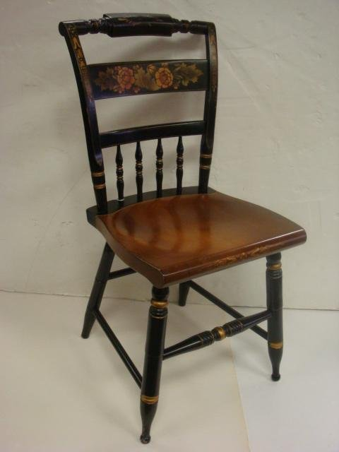 230E Hitchcock Natural And Black Stenciled Side Chair